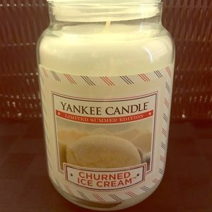 Churned Ice Cream Large Jar Yankee Candle